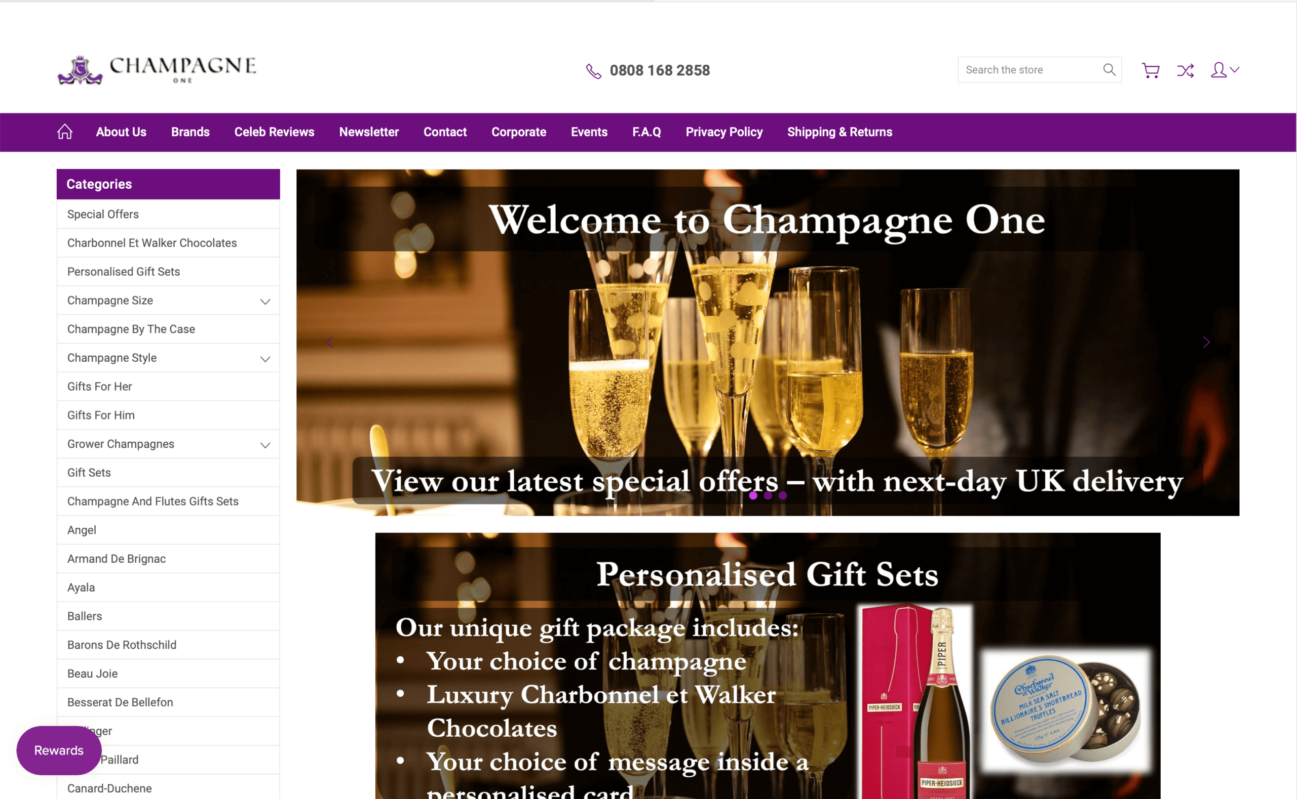 Champagne One: eCommerce retailer