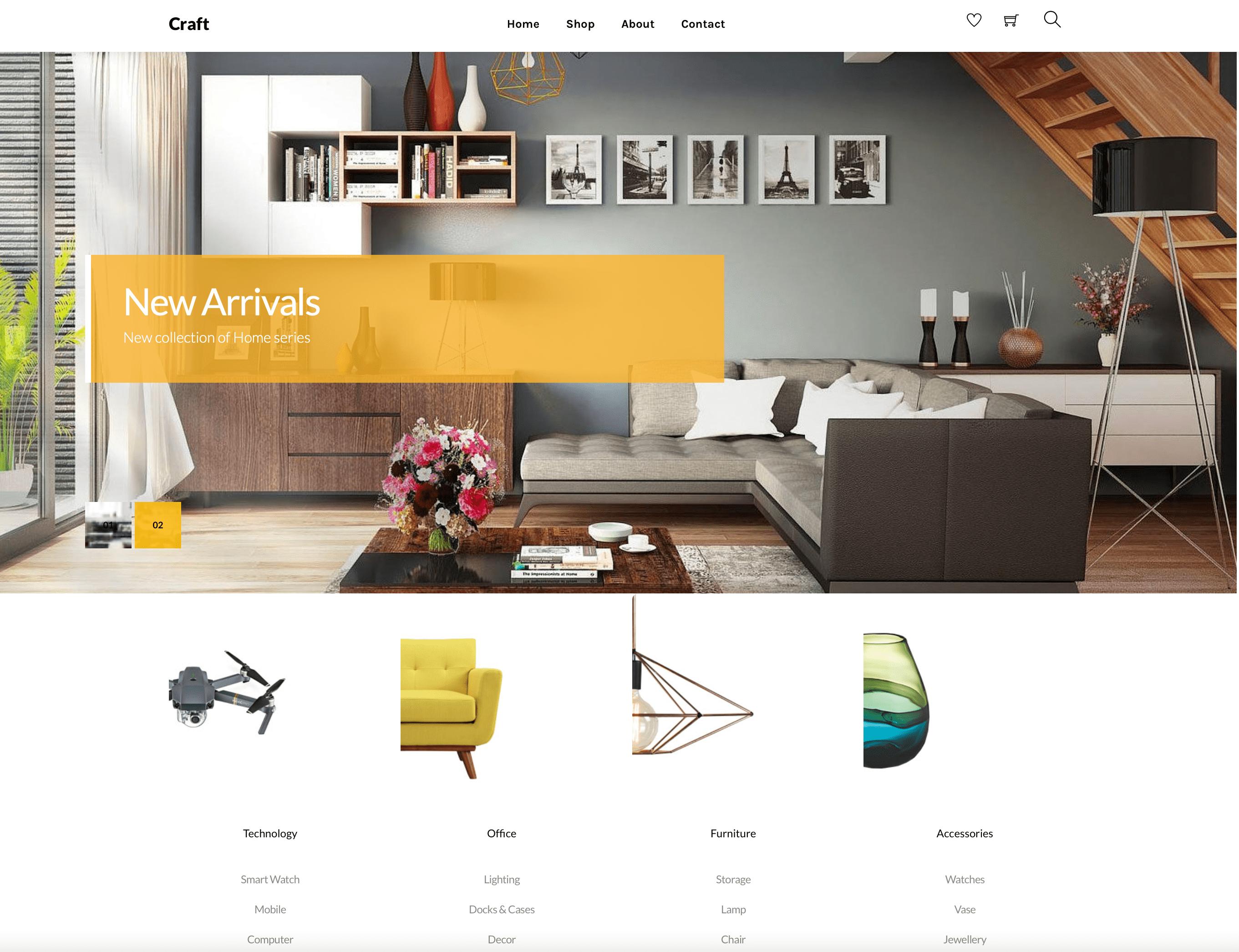 Furniture and Homeware Retailer website design