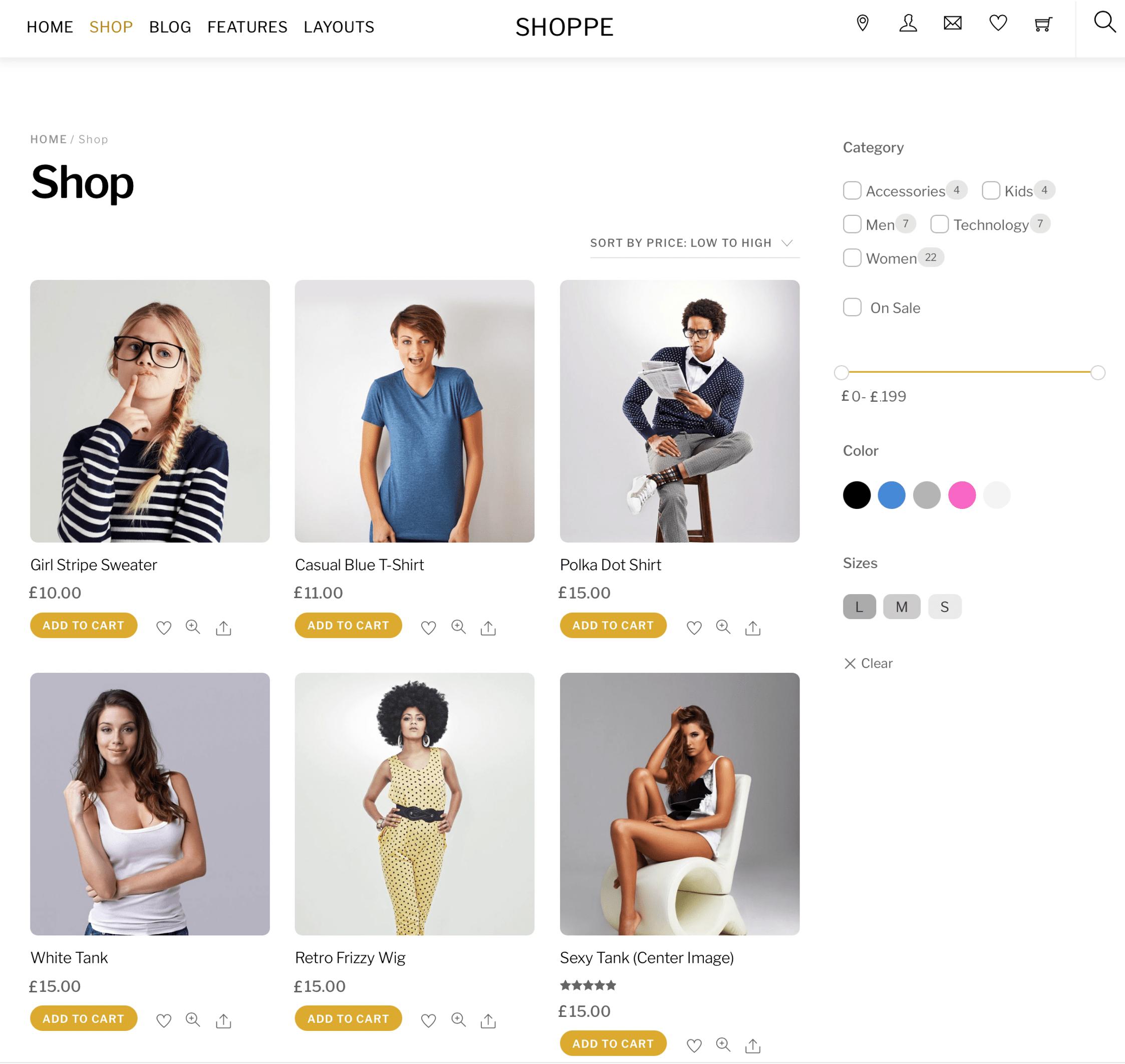 Fashion retailer website design